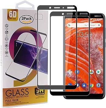 Guran [2 Paquete Protector de Pantalla para Nokia 3.1 Plus (2018) Smartphone Cobertura Completa Protección 9H Dureza Alta Definicion Vidrio Templado Película: Amazon.es: Electrónica