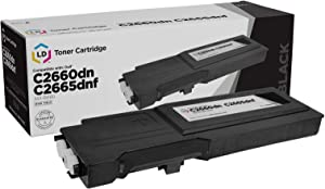 LD © Dell Compatible RD80W (67H2T) Black Extra High Yield Toner Cartridge Includes: 1 593-BBBU Black for use in Dell Color Laser C2660dn, and C2665dnf Printers