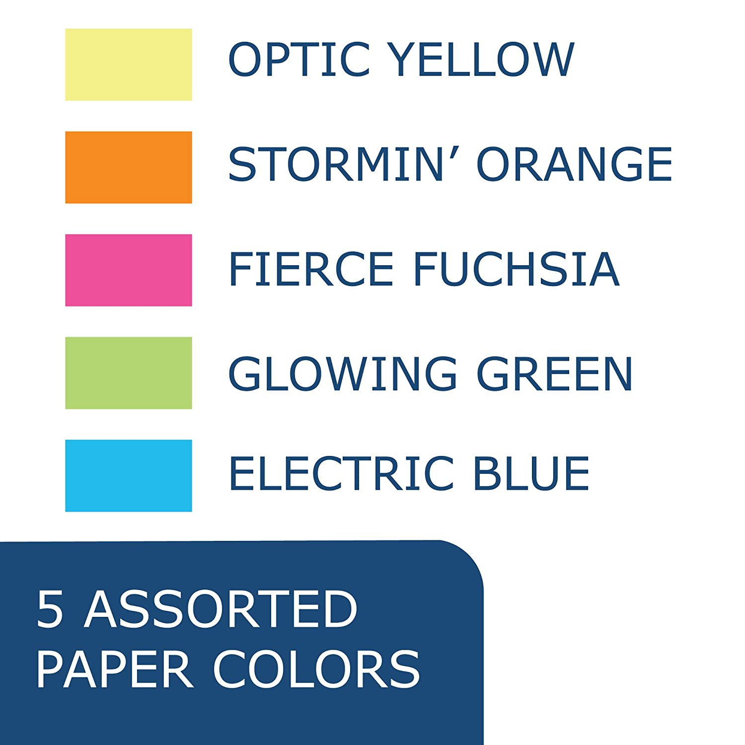 8.5 x 11 Kaboom Glimmer Pastel Assorted Colored Paper 100 sheets
