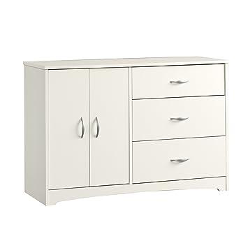 Amazon Com Contemporary Dresser Soft White Finish Easy Glide