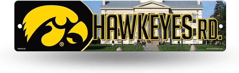 NCAA Rico Industries 16-Inch Plastic Street Sign Décor, Iowa Hawkeyes