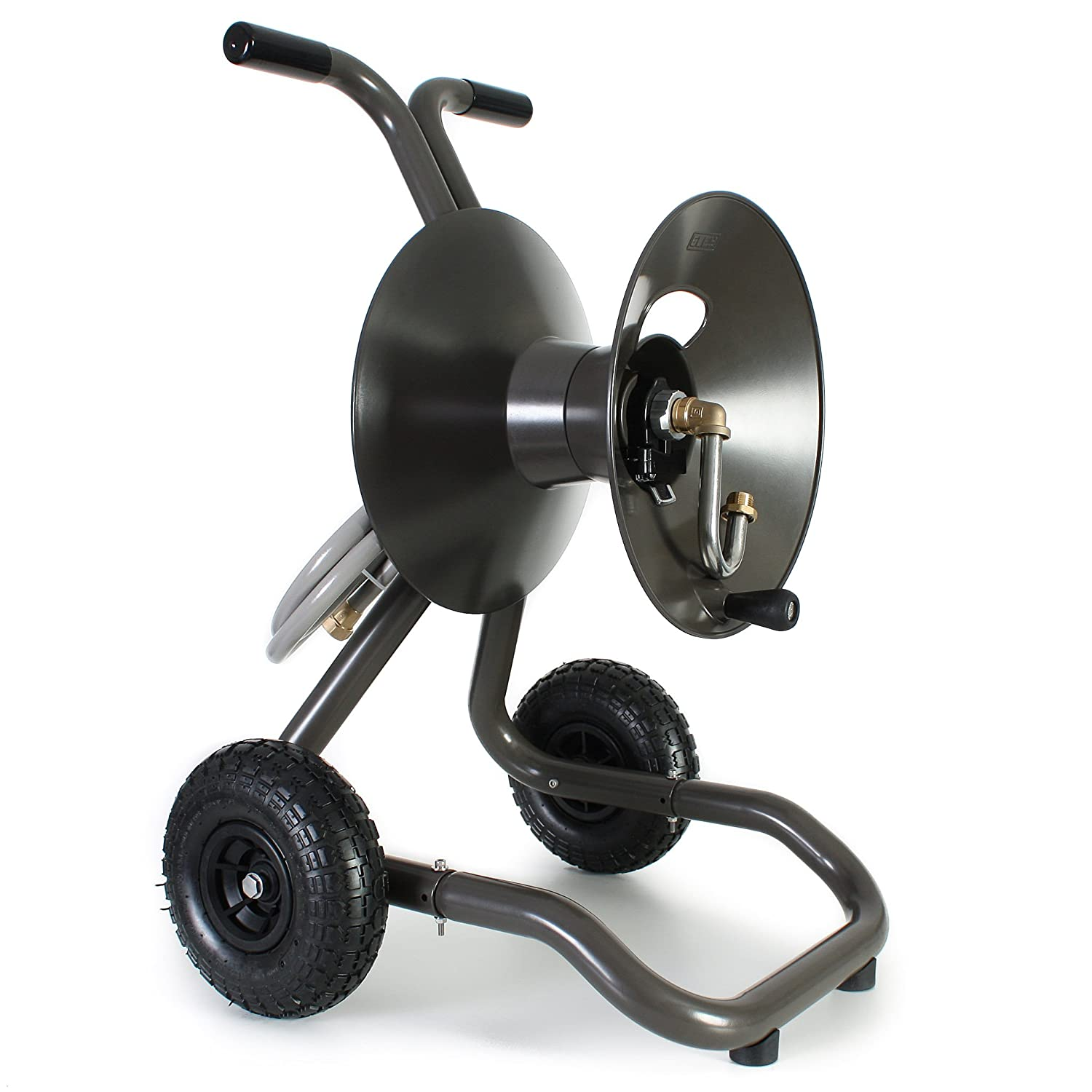 wall mounted hose reel metal