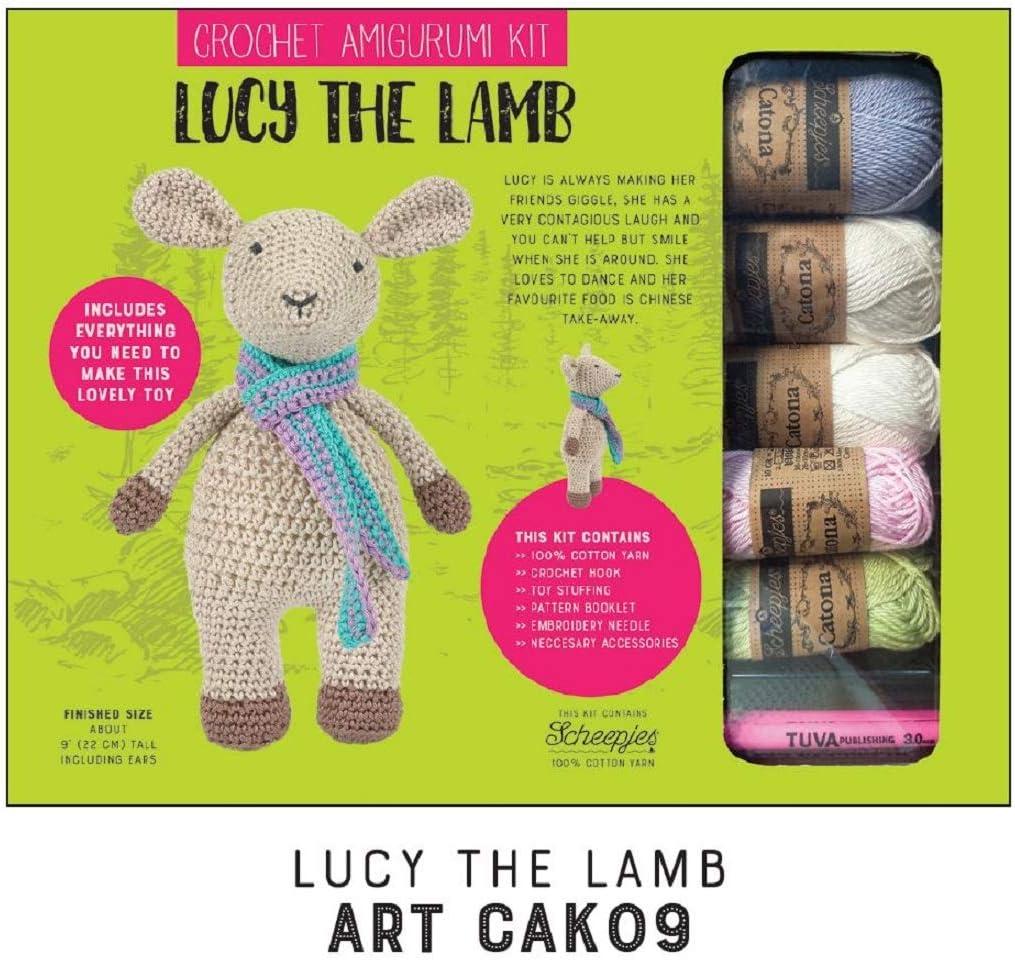 Kit de ganchillo amigurumi Kit de juguete de hilo de algodón Kit de tejer – Incluye guía de construcción – para principiantes y expertos Crocheters – Modelo 9 Lucy el cordero: Amazon.es: