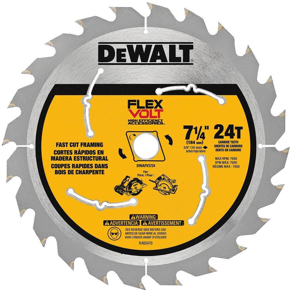 """DEWALT DWAFV3724 Flexvolt 24T Circular Saw Blade, 7-1/4"""""""