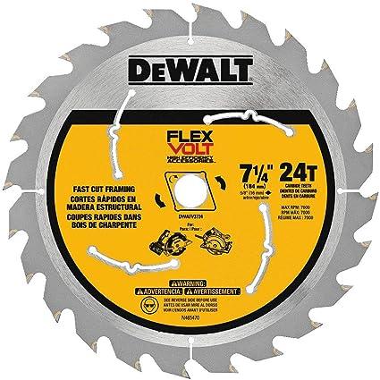 Dewalt dwafv3724 flexvolt 24t circular saw blade 7 14 amazon dewalt dwafv3724 flexvolt 24t circular saw blade 7 14quot keyboard keysfo Gallery