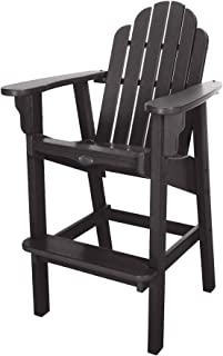 product image for Nags Head Hammocks Classic Bar Dining Chair, Black