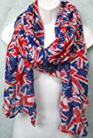 UK Scarf UNION JACK Flag Prints Womens Ladies Souvenir Scarves