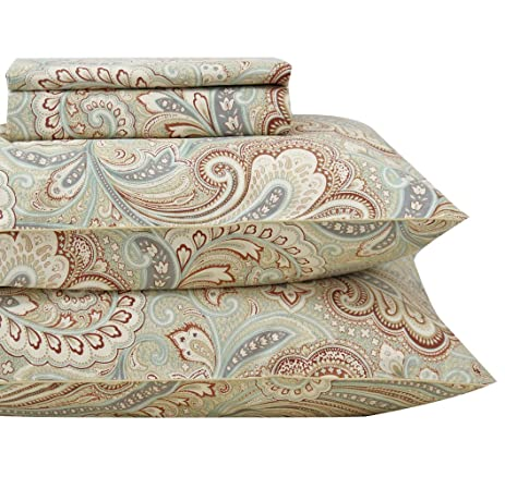 Queenu0027s House Luxury Baroque Paisley Pattern Bed Sheets Set King,P