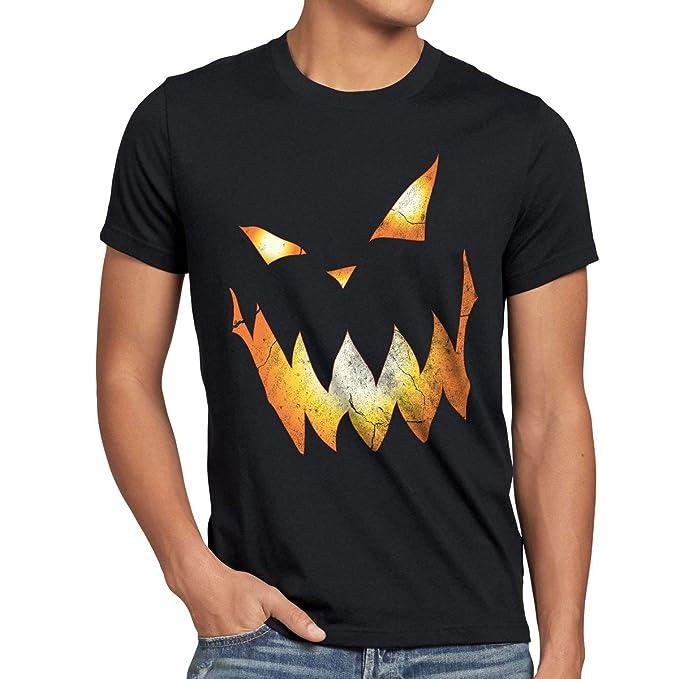 style3 Calabaza Halloween Camiseta para Hombre T-Shirt, Talla:S;Color:Nero: Amazon.es: Ropa y accesorios