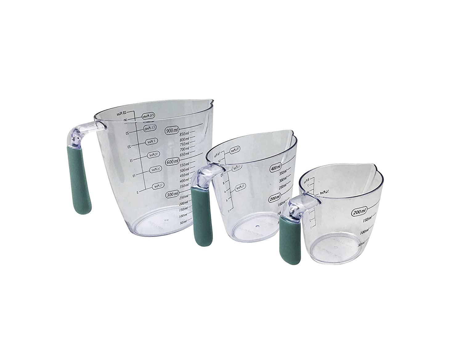 FIRST CHOICE 3Pc Measuring Jug Set, Clear PENDEFORD 3321