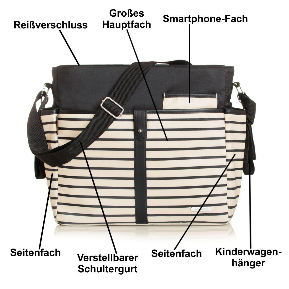 + Wickelauflage Baby Tasche mit Befestigung f/ür Kinderwagen Buggy Wickeltasche COFFEE