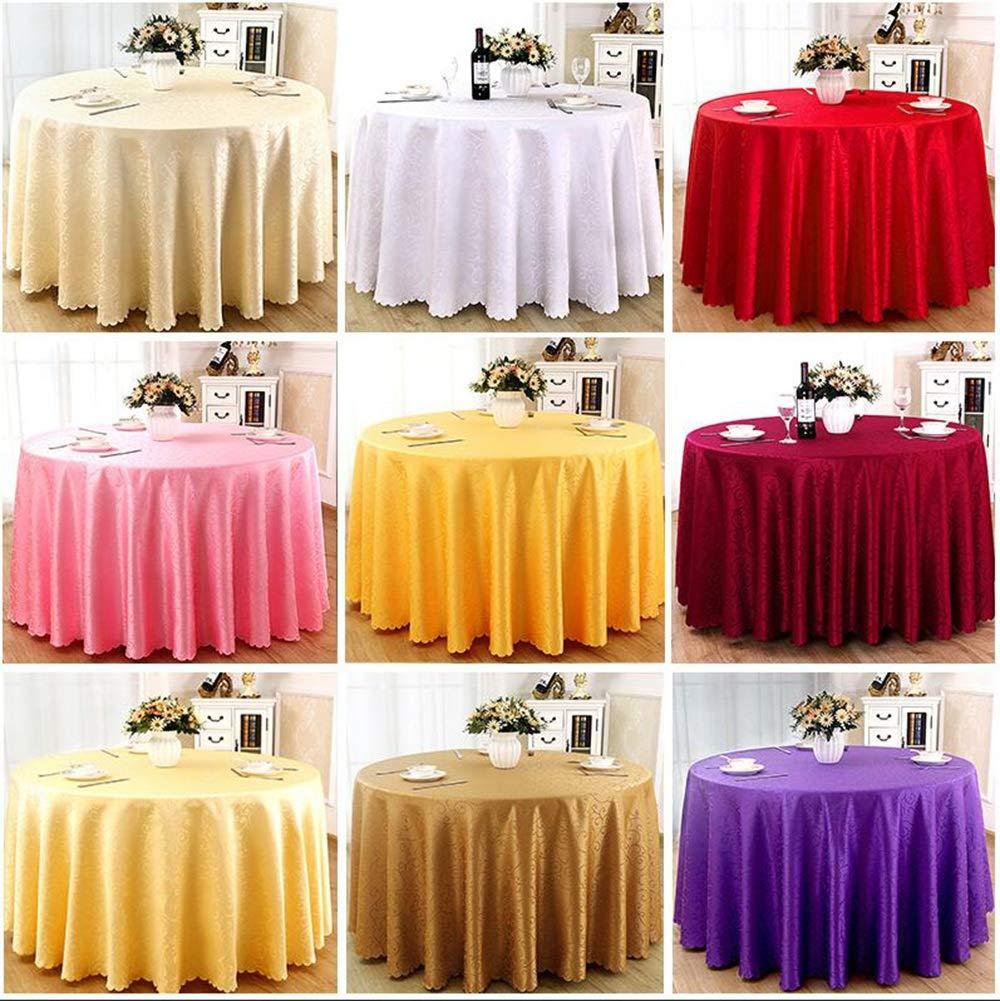 HUIYUAN Polyester Hôtel Nappe Restaurant Tissu Nappe Ronde yP0wvmN8nO