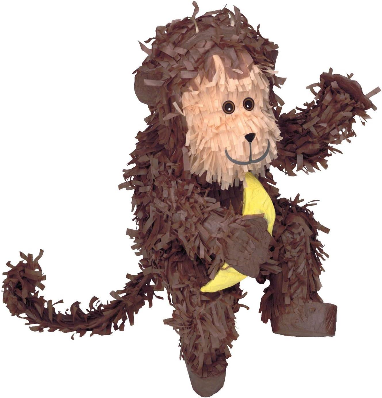 Brown Monkey with Banana Pinata 15-12-Inch