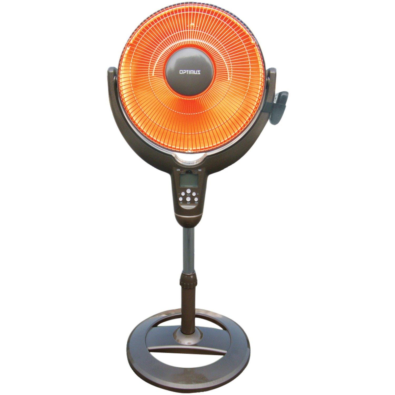 Optimus H-4501 14-Inch Oscillitating Pedestal Digital Dish Heater with Remote