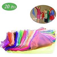 NATEE 20pcs Pañuelo de Baile, Bufandas de Danza