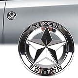TK-KLZ 2Pcs 3D Metal TEXAS EDITION Star Car SUV