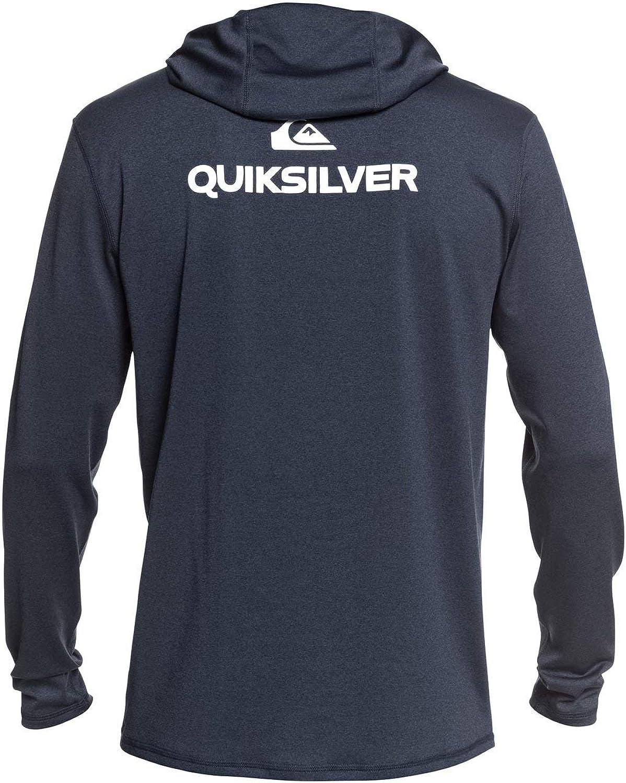 Quiksilver Mens Dredge Hooded Long Sleeve Rashguard 50 Sun Protection