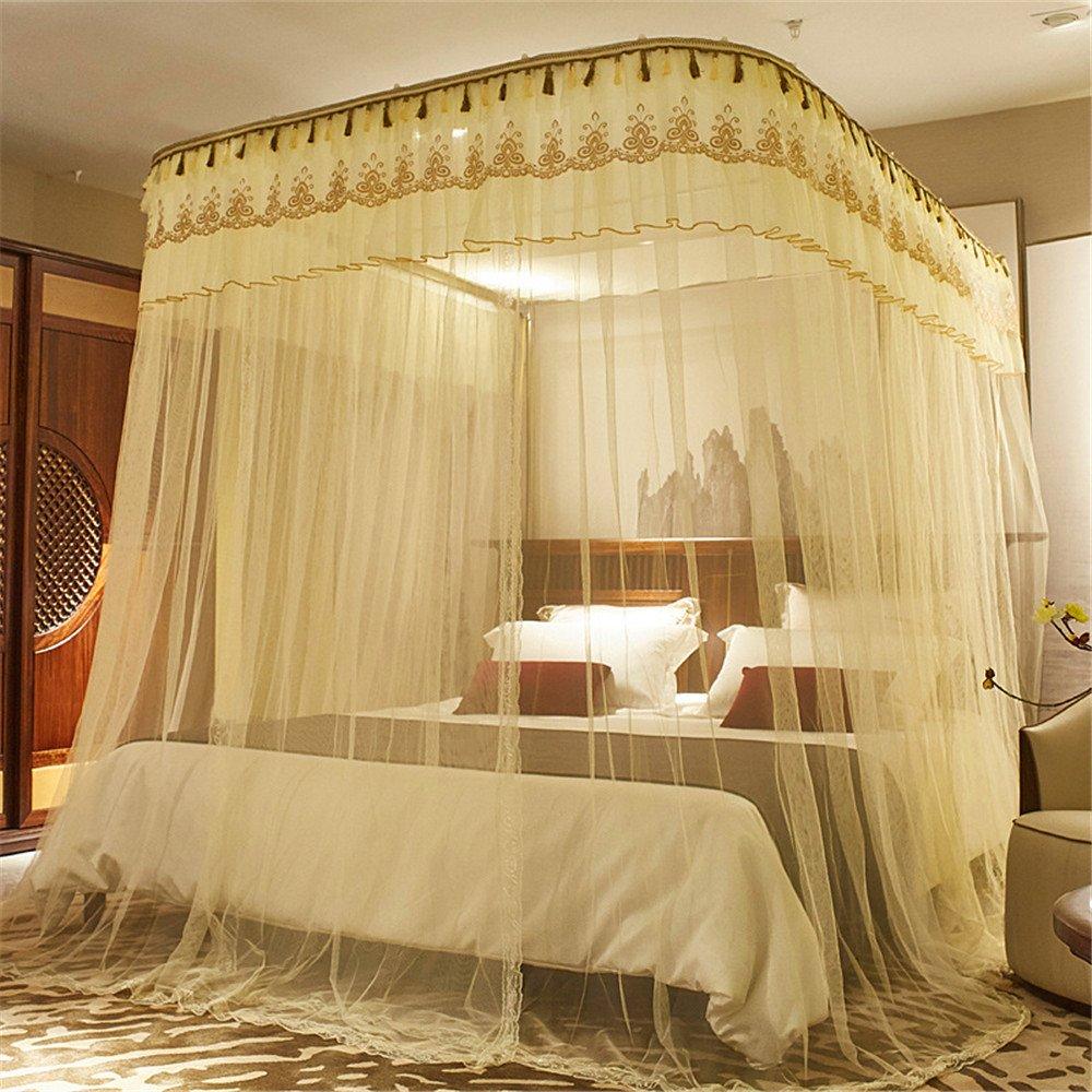 Maybesky Einziehbare Moskitonetze U-Typ Bodenständer 2.0 Double 1.5 Home 1.8m2 Meter Bett 2.2 Geeignet für Zuhause Reise Wesentliches Moskitonetze