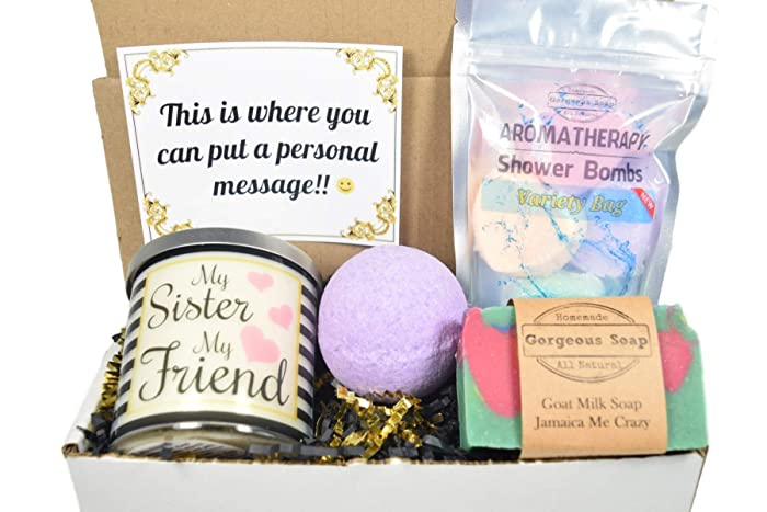 Amazon Custom Sister Gift Box For Basket Birthday Secret Handmade