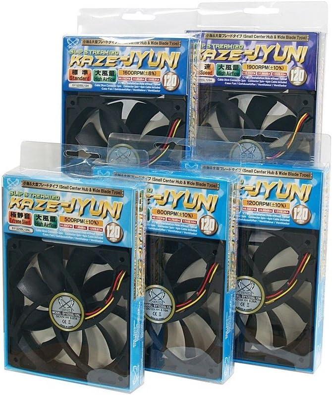 SY1225SL12SH Scythe Kaze-Jyuni Slip-Stream 120mm Case Fan,,1900RPM