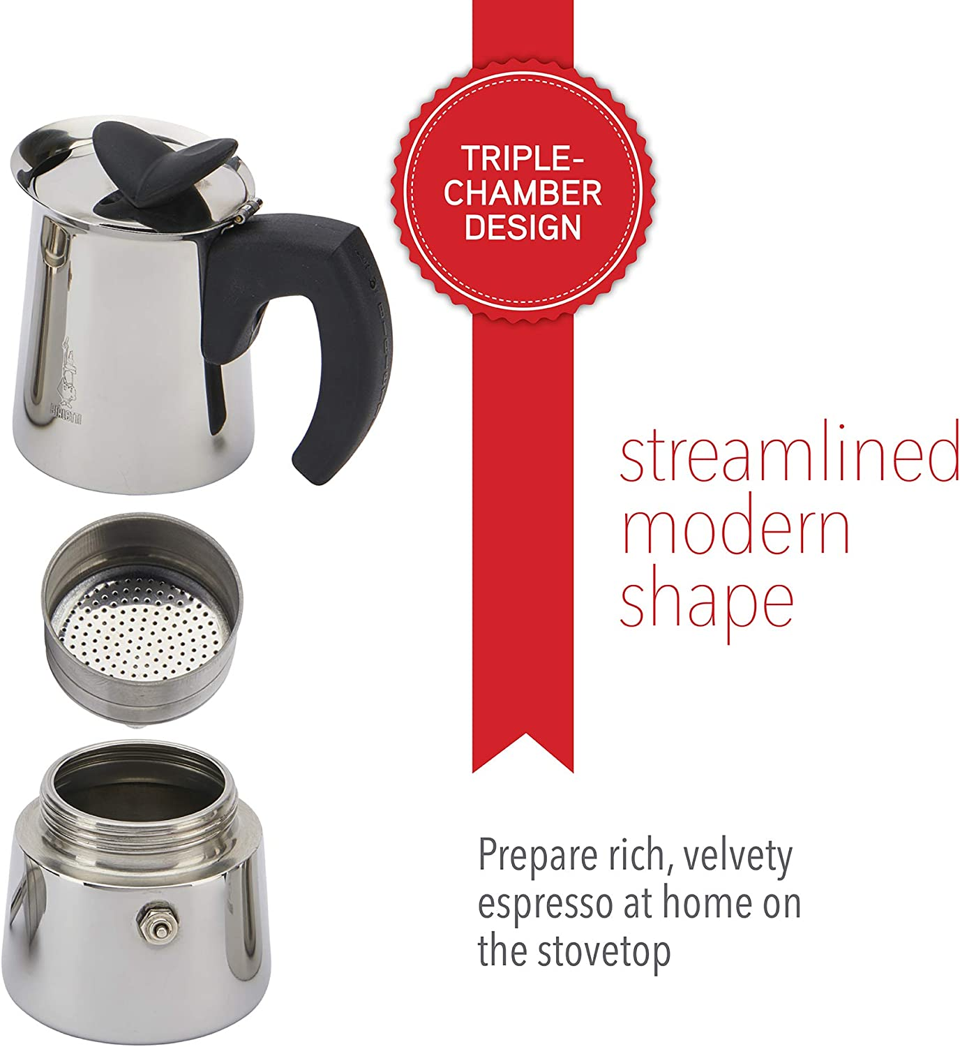 The Sales Partnership Faro Bialetti Complete Kitchen Set with Espresso Coffee Set and Sounds