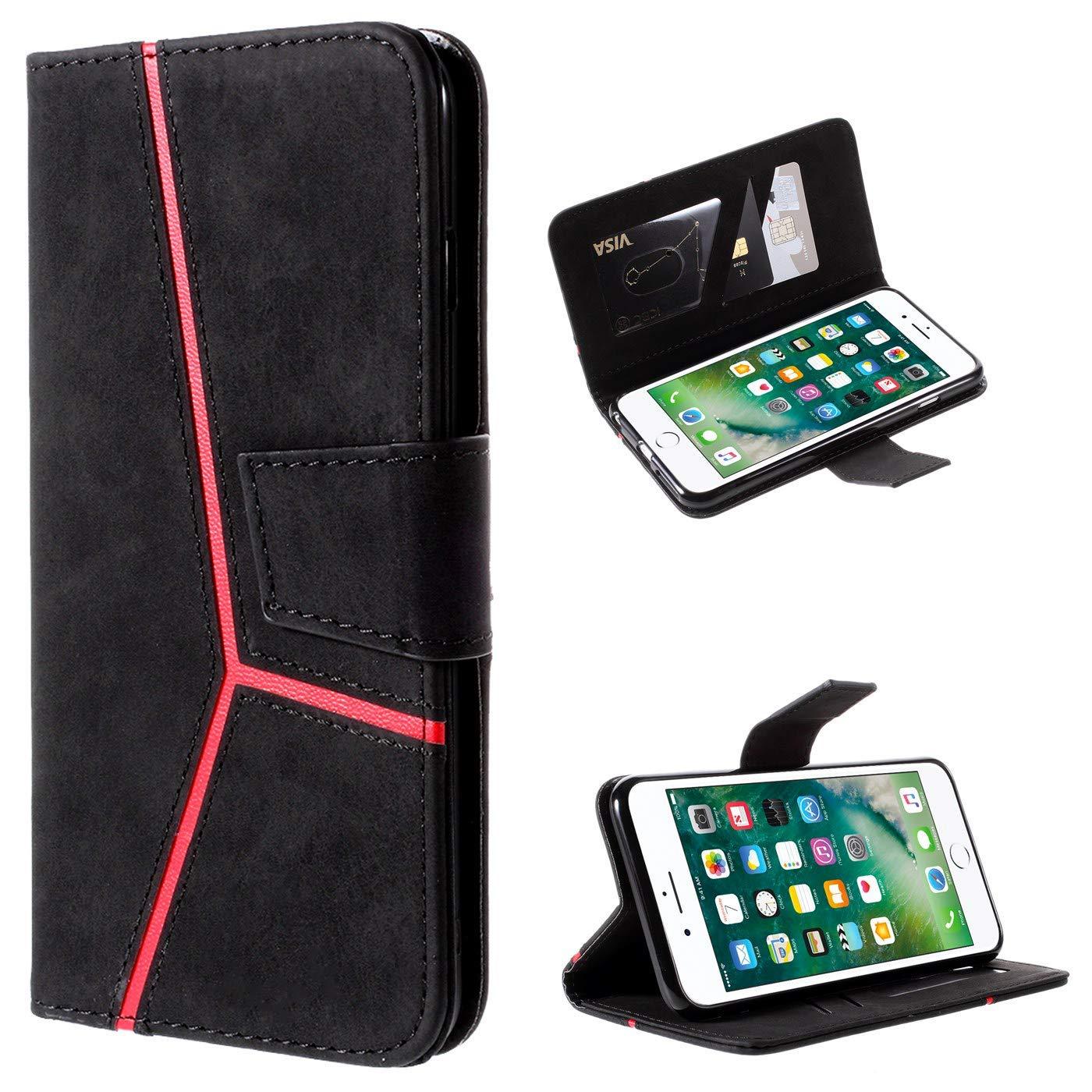 iPhone 6S,Schwarz Hancda H/ülle f/ür iPhone 6 Handytasche H/ülle Case PU Leder Klapph/ülle mit Kartenfach Flip Handyh/ülle Cover Magnet Lederh/ülle Sto/ßfest Case Schutzh/ülle f/ür iPhone 6 iPhone 6S
