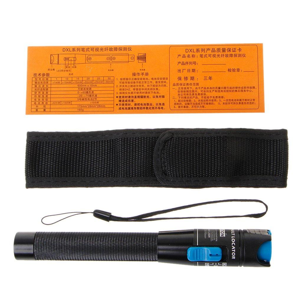 Ranuw Visual Fault Locator 1mW Red Light Source Fiber Optic Cable Tester Pen Tool