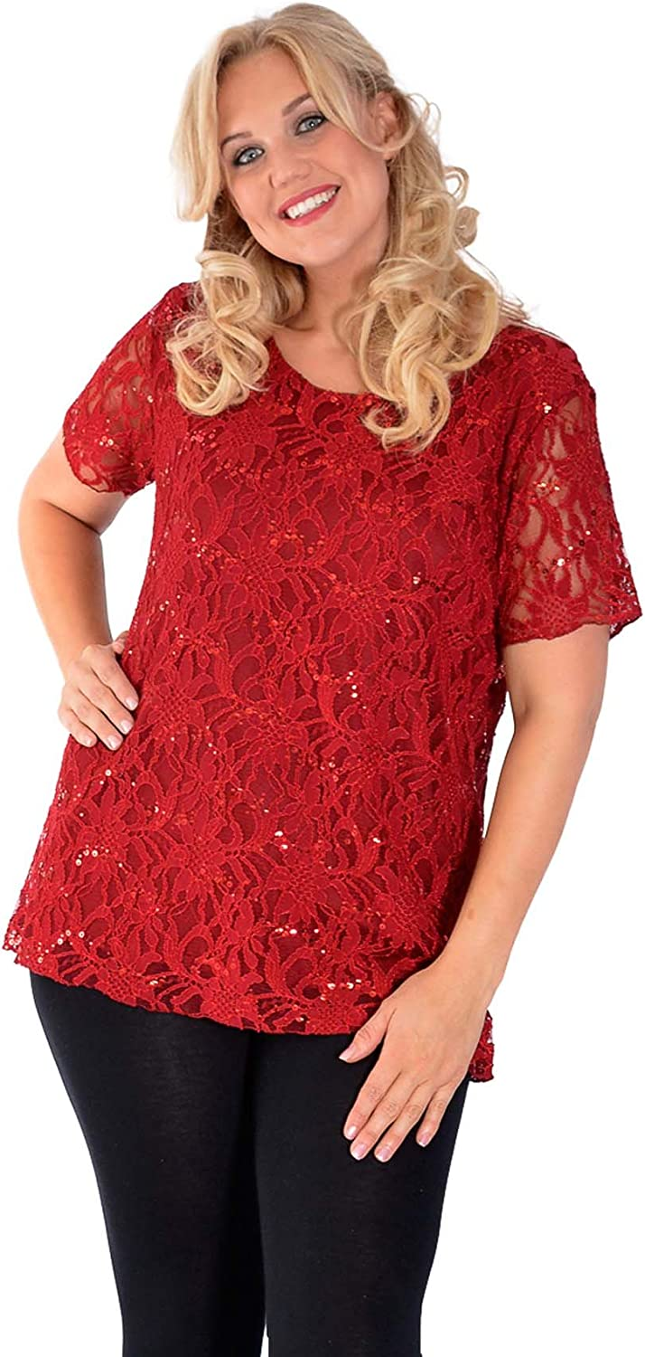 LADIES TUNIC SUMMER VEST /& CROCHET LACE TOP MOCCA 20-22 NEW WOMAN/'S