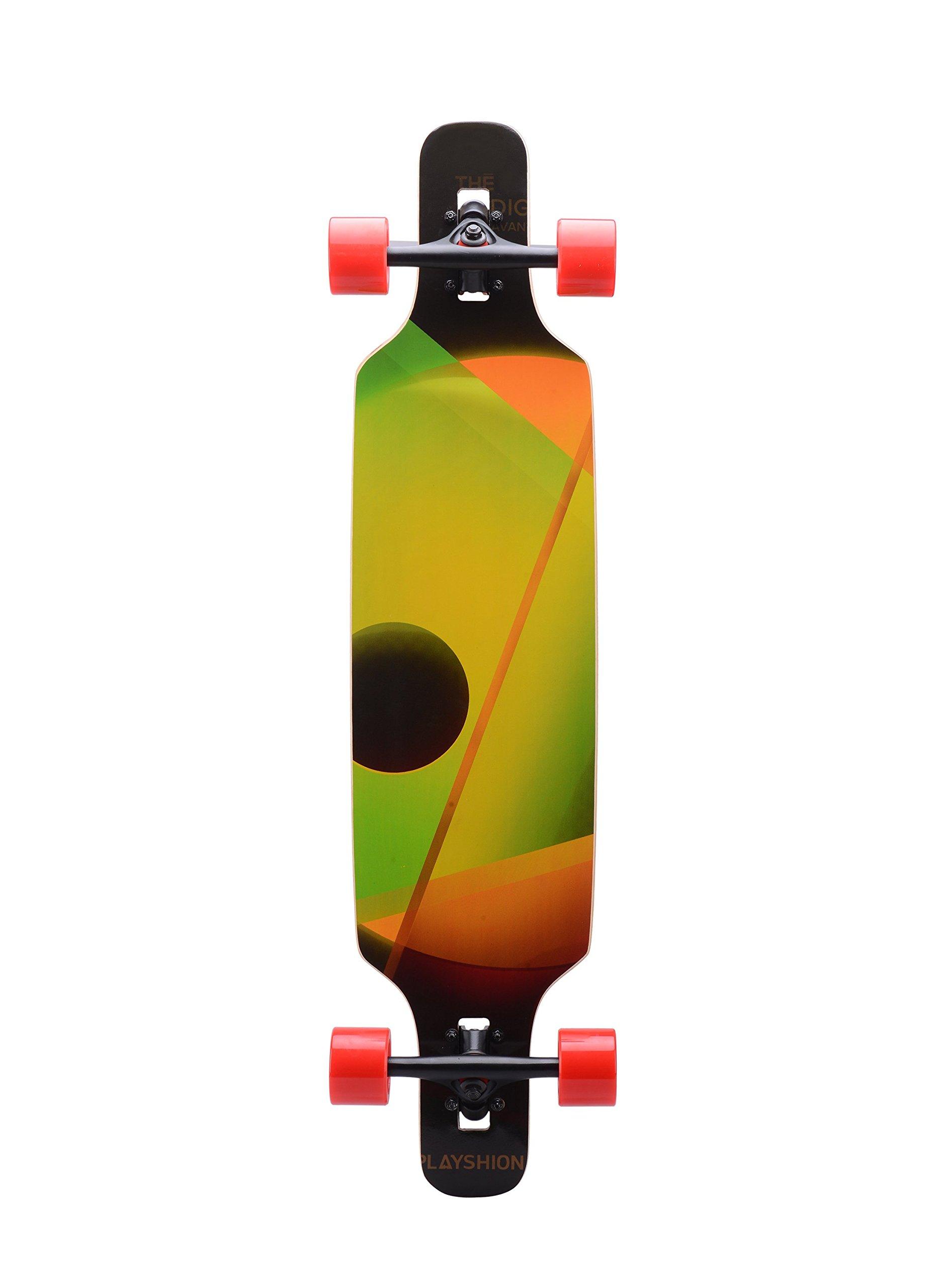 Playshion 39 Inch Drop Through Freestyle Longboard Skateboard Cruiser by Playshion (Image #3)