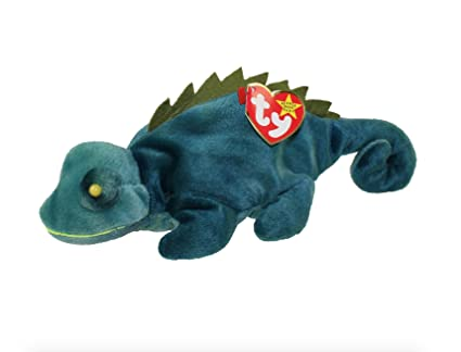 Amazon.com  TY Iggy the Iguana Beanie Baby - Blue Green by TY  Toys ... 6c36dfb0541