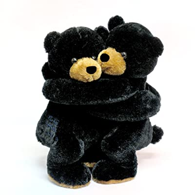 "Wishpets Stuffed Animal - Soft Plush Toy for Kids - 10"" Hugging Black Bears: Toys & Games"