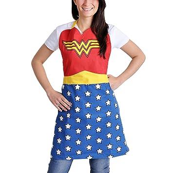 Wonder Woman logo traje Delantal de la cocina de la liga oficial de justicia DC Comics