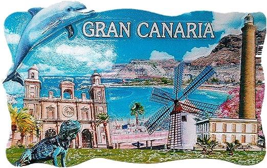 MUYU Magnet Gran Canaria Isla España 3D imán de Nevera de Viaje Souvenir Regalo, hogar y Cocina decoración magnético calcomanía España refrigerador imán Collection: Amazon.es: Hogar