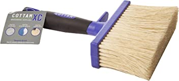 Cottam 5 inch Tampico Block / Timber Brush for Sheds, Fences and Masonry (Paste, Sealants, Coatings, Limewash, Exterior Paints and Whitewash)