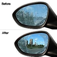 Auto Rückspiegel Regenfest, Bambud 2Pcs Wasserdichte Membran Auto, Auto Rückspiegel Film, Anti-Beschlag, Blendschutz, SUV, Blendschutz, Anti-Beschlag, Anti-Fouling, Anti-Scratch, Anti-Fernlicht, Rundspiegel Anti-Regen-Folie, Geeignet für alle Modelle von Auto (Runde, 98*98mm)