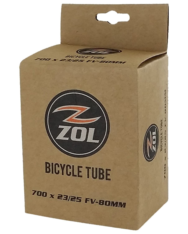 Zol Tubo interior para bicicleta de bicicleta de carretera 700x 23/25C–Caja de largo/french Válvula Presta 80mm Wanda Tyre