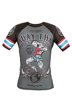 Dirty Ray Artes Marciales Muay Thai camiseta rashguard hombre RG10 (S)