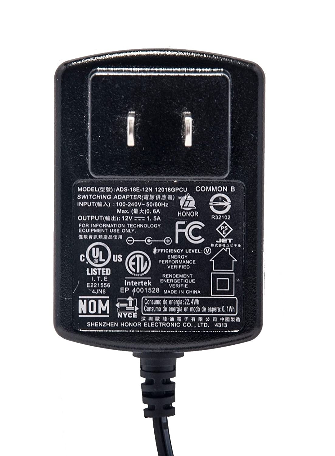 AC Adapter For COMMON ADS-18E-12N 12018GPCU Seagate HDD Switching Power Supply