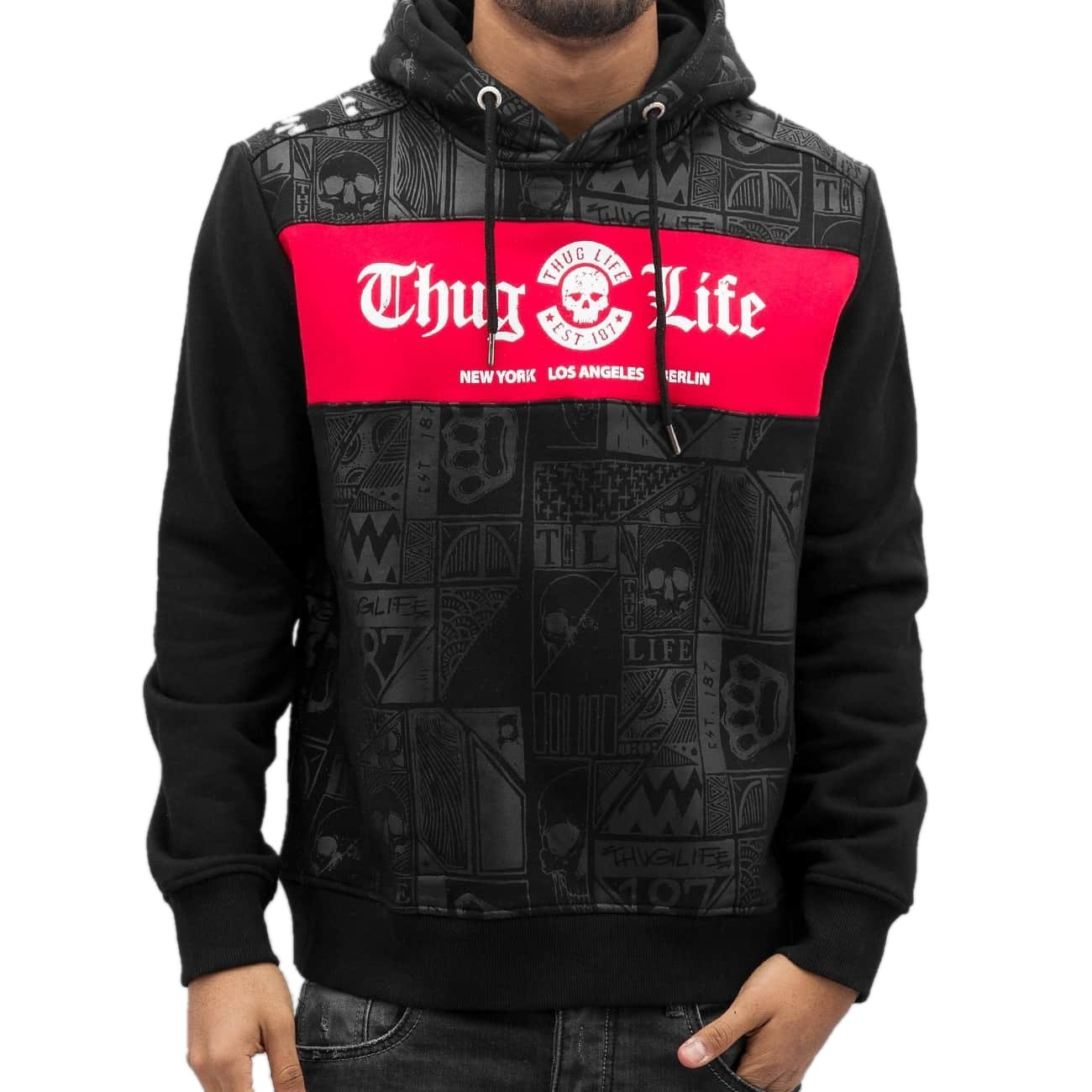 Thug Life Hoody Broon in schwarz