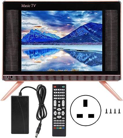 Oumij Mini HD TV, 15 Pulgadas HD LCD TV portátil Mini TV Sonido bajo 110-240 V: Amazon.es: Electrónica