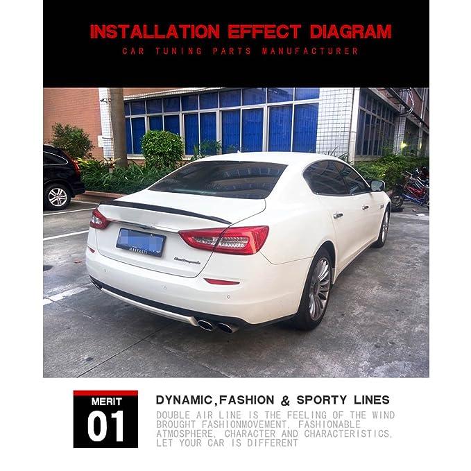 Carbon Rear Spoiler Wing for Maserati Quattroporte Executive GT Sedan 13-15