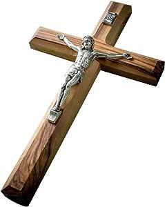 "EARTHWOOD FINE WOOD PRODUCTS CC-19C Olive Wood 8"" Crucifix, 8"", brown"