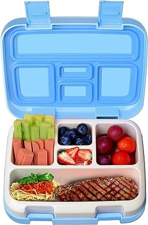 Microondas Cuchara para Ni/ños Adultos Rosa SUNSK Bento Box Lunch Box Fiambreras Bento Caja de Almacenamiento de Seguridad a Prueba de Fugas con Palillos Apto para Lavavajillas