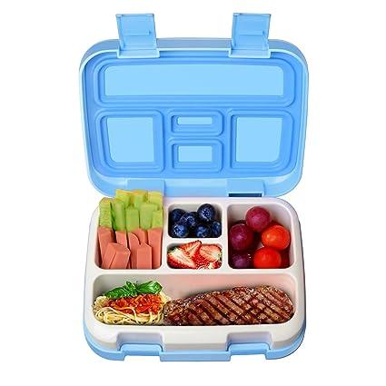 KHY Para Niños de fiambrera/bento Box/fiambrera con 5 compartimentos,fiambreras a prueba de fugas