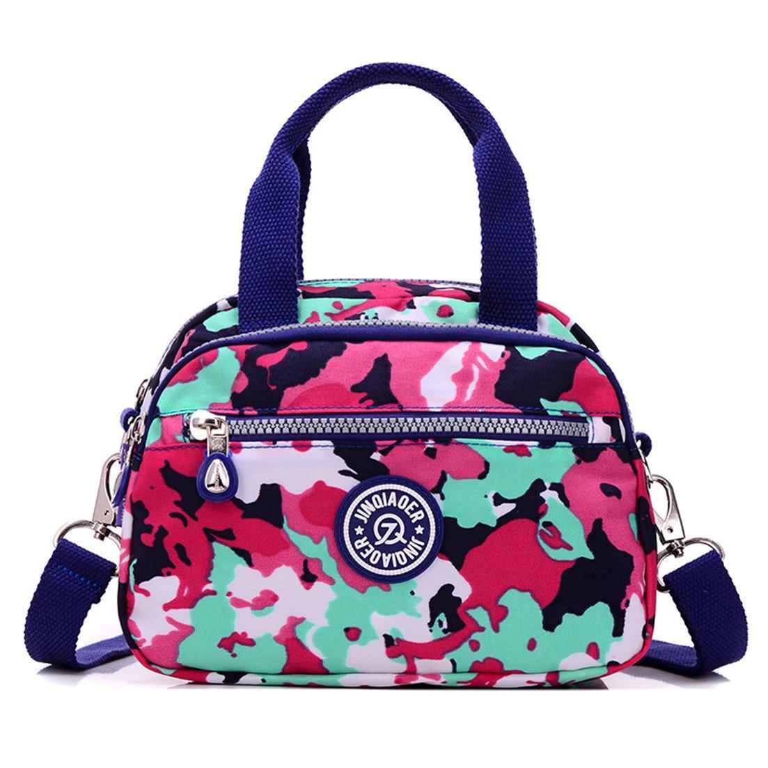 TianHengYi Girls Casual Small Nylon Cross-body Shoulder Bag Multi Pockets Lightweight Handbags & Purses 3120 Camo