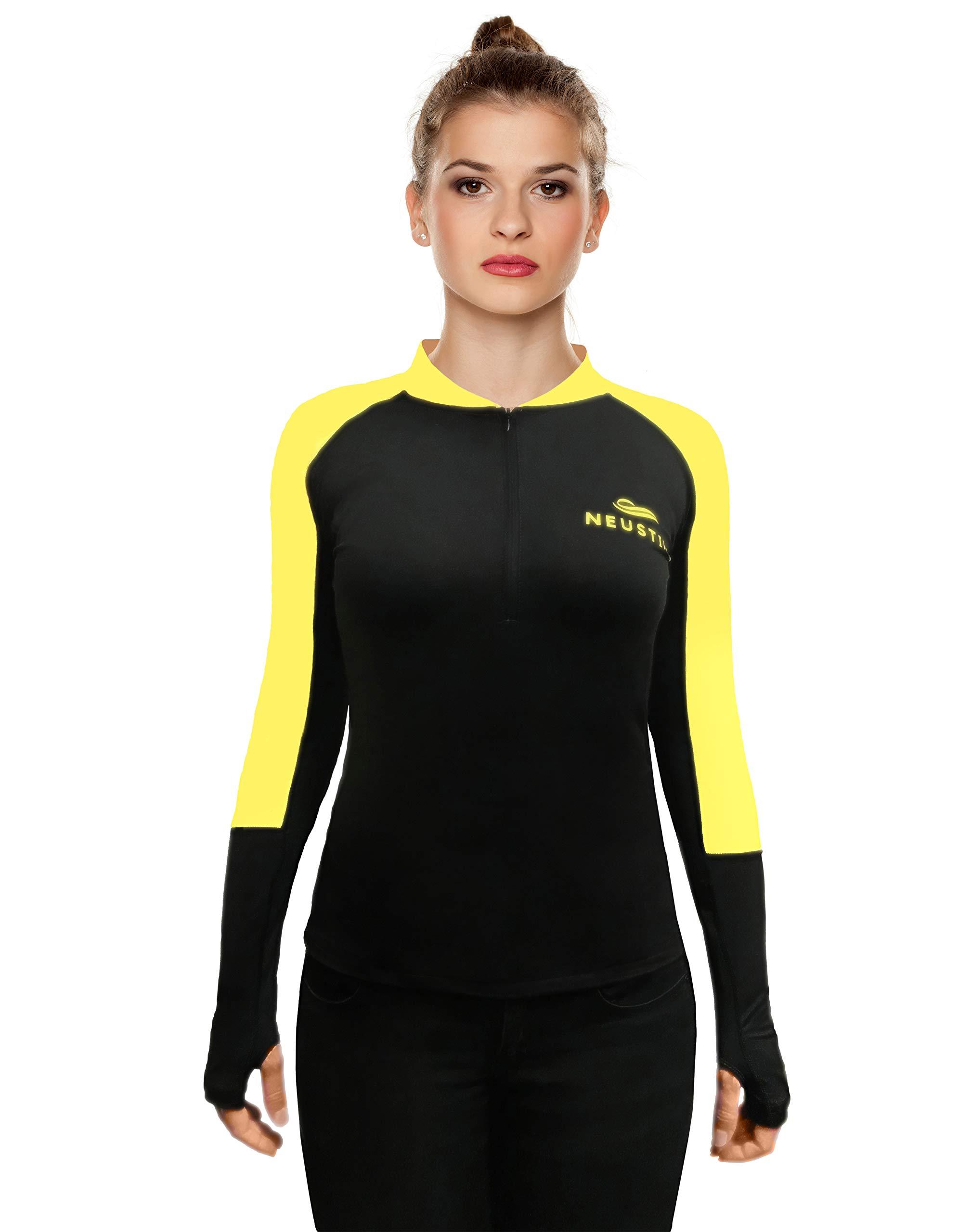 Neustile Women Activewear Short Zipper Top Black Medium - Fitness Yoga Workout by Neustile