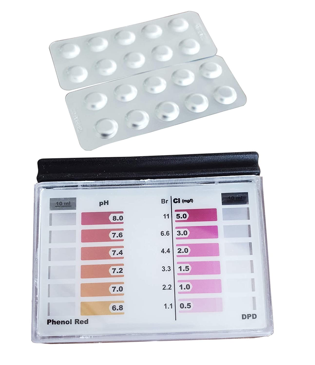 Powerhaus24 100x Rapid Test Tablets with 50x pH Phenol Red and 50x DPD1 Chlorine