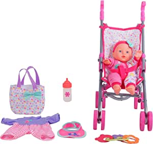 "Amazon.com: DREAM COLLECTION 12"" Baby Doll Care Gift Set ..."