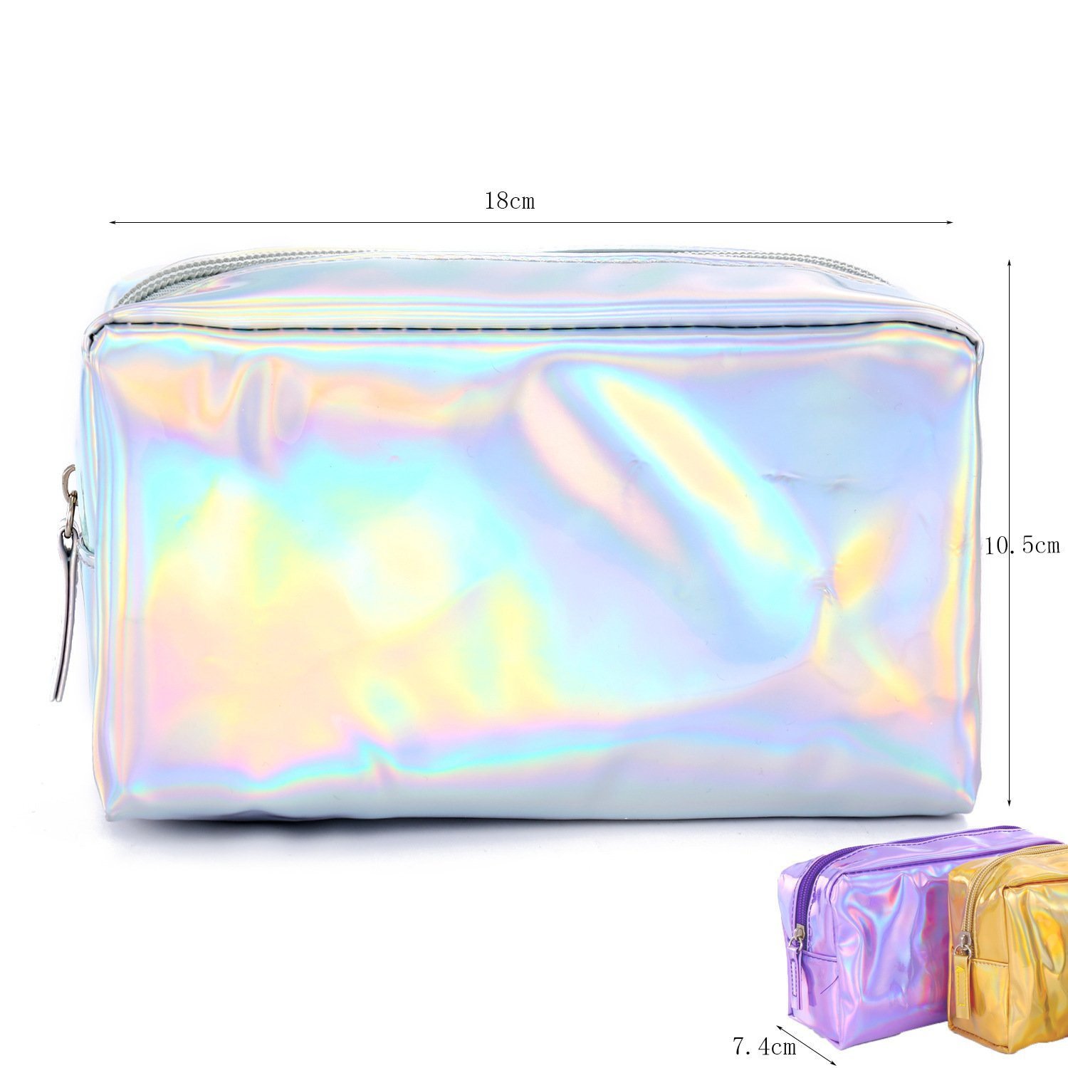 Huihuger Beauty Portable Makeup Bag Waterproof Travel Toiletry Bag Pencil Case Cosmetic Pouch Money Pouch for Women Girls