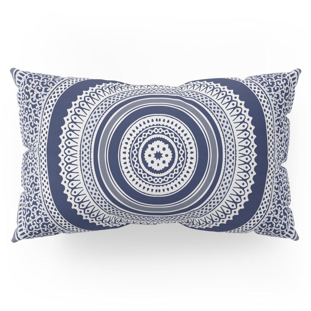 Society6 Denim Mandala Pillow Sham King (20'' x 36'') Set of 2